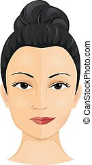 Cosmetic Surgery - Illustration of a Woman Who Had Undergone...