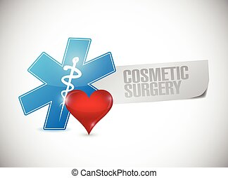 cosmetic surgery medical sign illustration design over a...