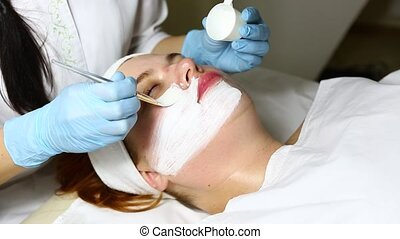 cosmetic surgery - Cosmetic treatment with injection in a...