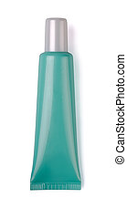 Cosmetic tube - Green plastic cosmetic tube isolated on...