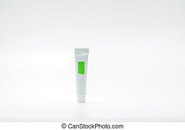 Cosmetic tube isolated on white background with copy space for text