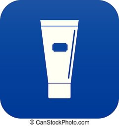 Cosmetic tube of cream or gel icon digital blue for any...