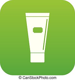 Cosmetic tube of cream or gel icon digital green for any...