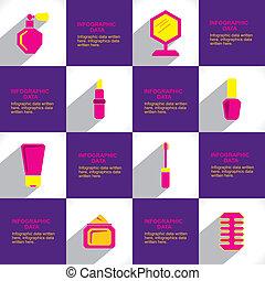 cosmetico, brichure, creativo