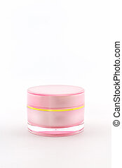 Cosmetics bottle, packaging.