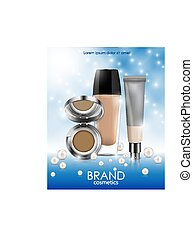 Cosmetics bottles vector illustration isolated