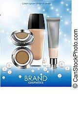Cosmetics bottles vector illustration isolated