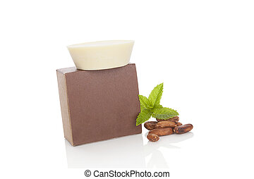 cosmetics., cacao, naturel, soap.