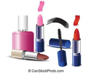 Cosmetics - makeup icons