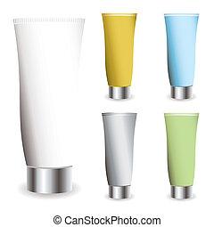 cosmetics cream - Cosmetic cream collection in different...