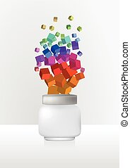 cosmetics cream jar