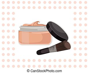 Cosmetics eye shadow set collection Vector illustration