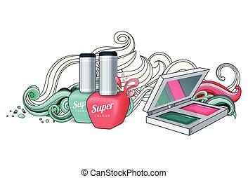 Cosmetics for women.