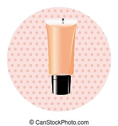cosmetics foundation theme elements vector,eps