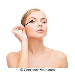 beautiful woman with mascara
