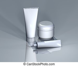cosmetics I - cosmetic bottles for logo presentation and...