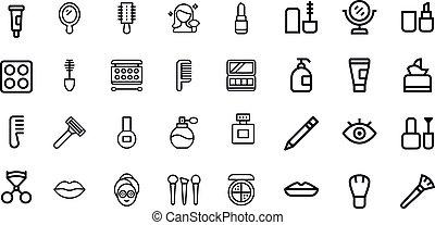 Cosmetics Icons vector design