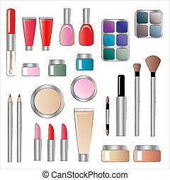 Cosmetics - A vector illustrations of various cosmetic...