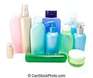 cosmetics isolated on white