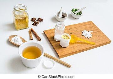 cosmetics., maison faite, ingrédients