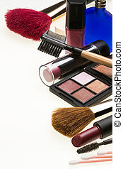 Cosmetics - Make-up - Selection of make-up and cosmetic ...