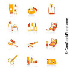 Cosmetics objects icons | JUICY - Cosmetics, visage, make-up...