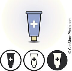 Cosmetics or medical cream icon - Cosmetics cream or medical...