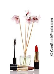 cosmetics, parfume and flower