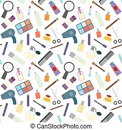 Cosmetics seamless pattern.