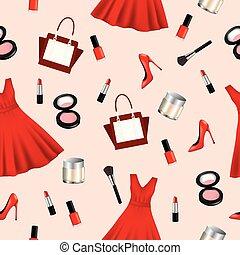 Cosmetics seamless pattern