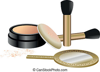 Cosmetics Set isolated on white background