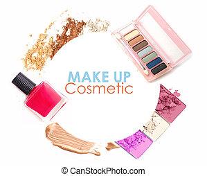 Cosmetics set isolated on white