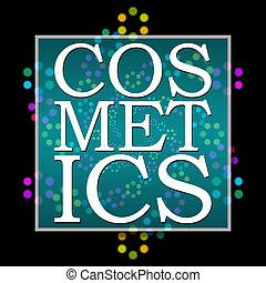 Cosmetics Text Black Colorful Neon