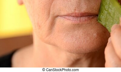 cosmetics - healing aloe leaf