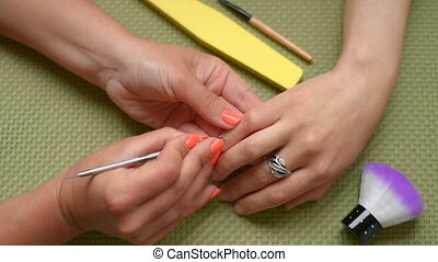 preparations for manicure