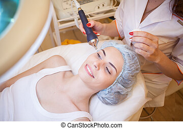 Cosmetology procedures on the face shine Spa