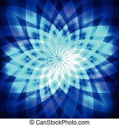 Cosmic blue flower