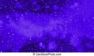 Cosmic Cloud Looping Dark Blue