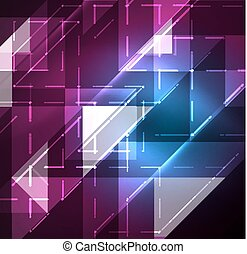 Cosmic electric background with shiny glowing plexus electricity impulses