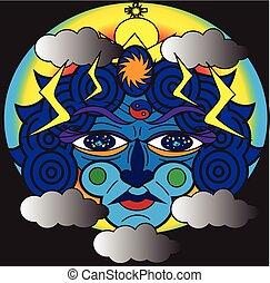 Cosmic face