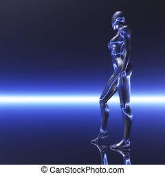 Cosmic Girl - Digital visualization of a cosmic girl