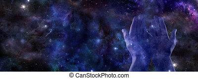 Cosmic healing banner