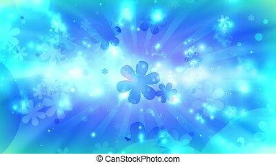Cosmic Hippie Retro Loop in Blue