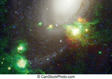 Cosmic landscape, awesome science fiction wallpaper.