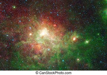 Cosmic landscape. Nebula. Elements of this image furnished by NASA