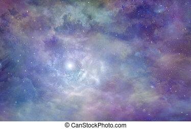 Cosmic Nebula Cloudy Deep Space  background