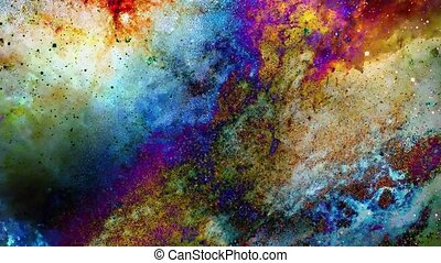 Cosmic space and stars, color cosmic abstract background and...