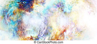 Cosmic space and stars, color cosmic abstract background. - ...