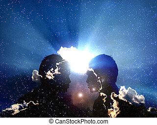 Cosmic Transformation - An metaphorical illustration ...