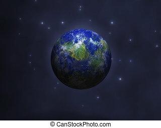 Cosmic Visualization - Digital Illustration of a cosmic...
